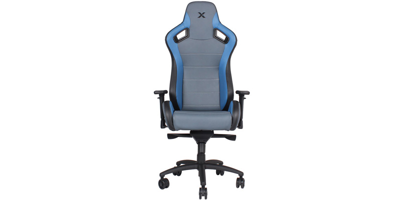 Best Carbon Line Blue on Grey Sleek Design Gaming Chair